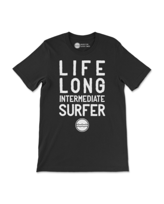Black Life Long Intermediate Surfer T-Shirt Front