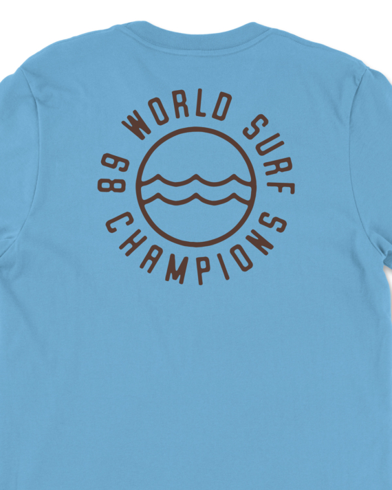 Blue 89 World Champions T-Shirt Back Graphic Detail