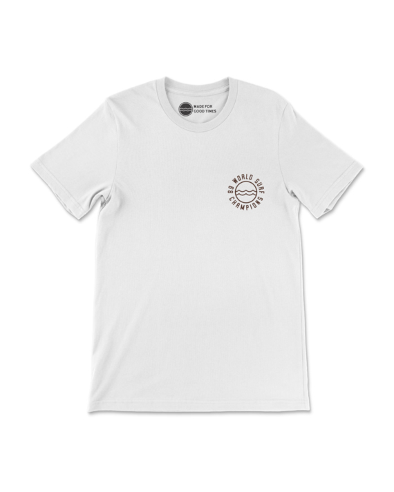 White 89 World Champions T-Shirt Front