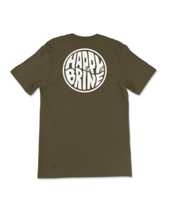 Army Green Badge of Good Times T-Shirt Back