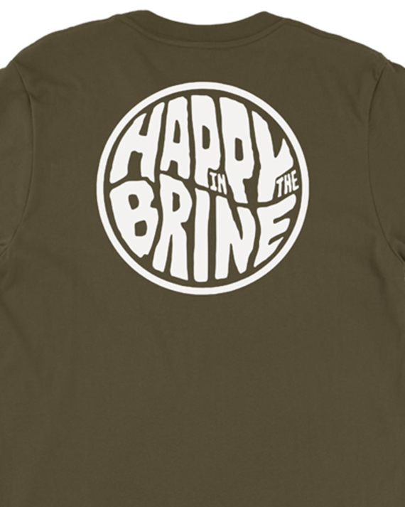 Army Green Badge of Good Times T-Shirt Back Graphic Detail