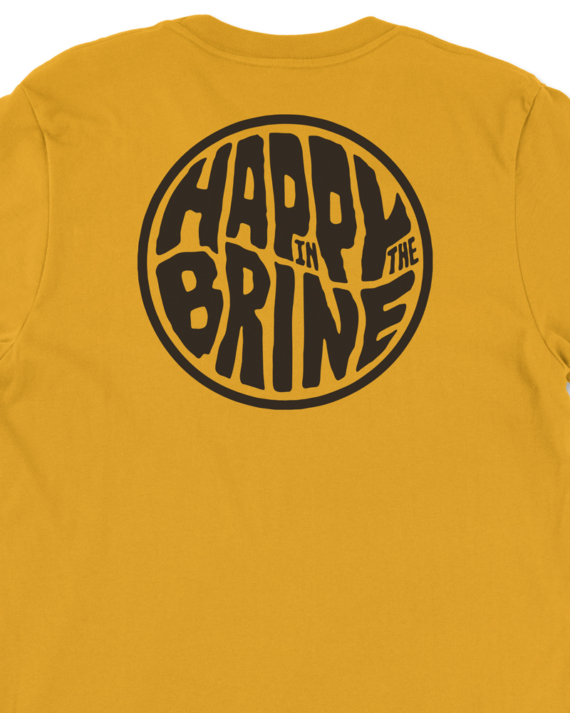 Mustard Badge of Good Times T-Shirt Back Graphic Detail