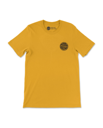 Mustard Badge of Good Times T-Shirt Front