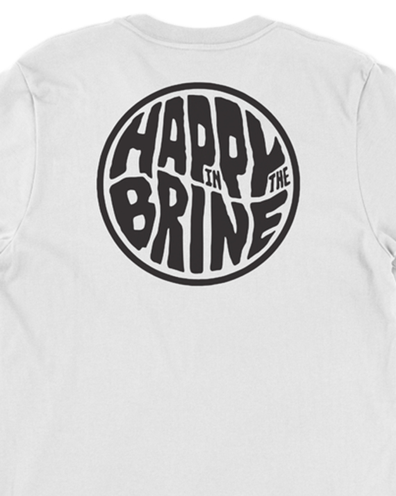 White Badge of Good Times T-Shirt Back Graphic Detail