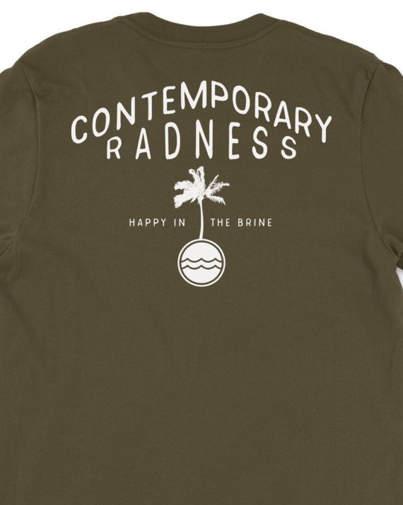 Army Green Contemporary Radness T-Shirt Back Graphic Detail
