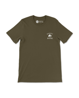 Army Green Contemporary Radness T-Shirt Front