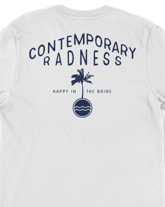 White Contemporary Radness T-Shirt Back Graphic Detail