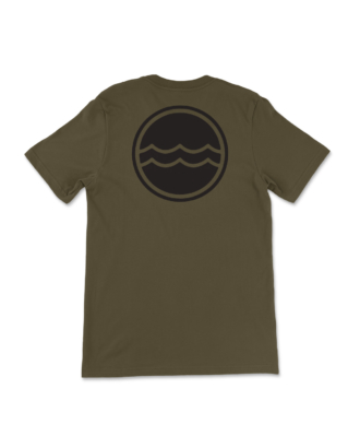 Army Green Corporate Logo T-Shirt Back