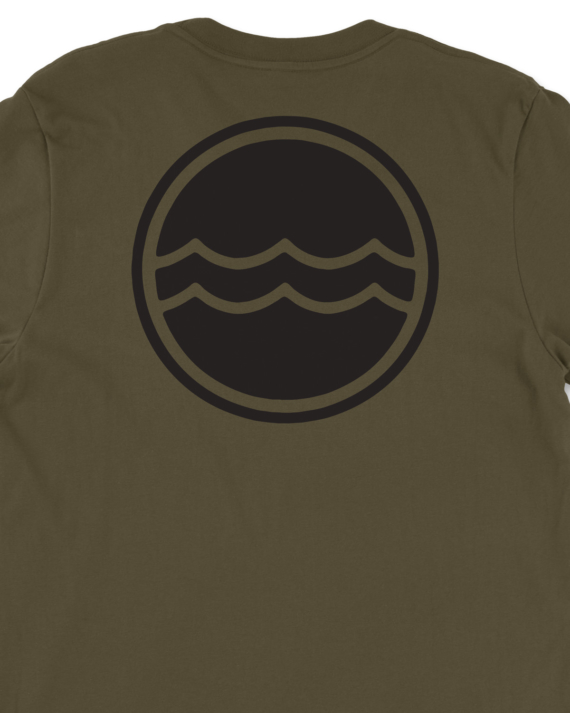 Army Green Corporate Logo T-Shirt Back Graphic Detail