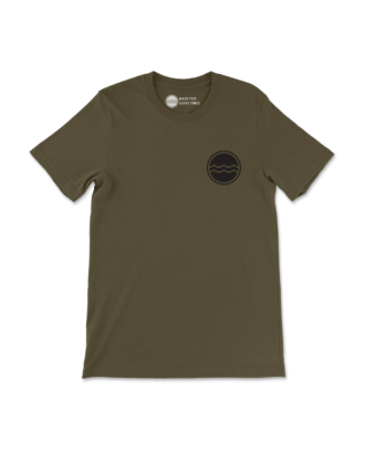 Army Green Corporate Logo T-Shirt Front