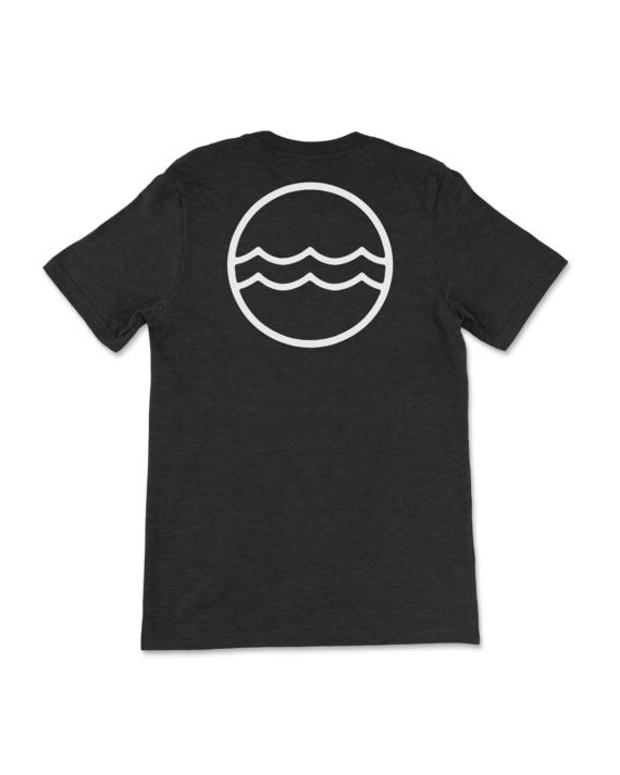 Black Heathered Corporate Logo T-Shirt Back