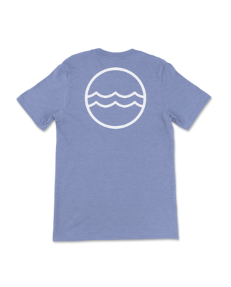 Blue Heathered Corporate Logo T-Shirt Back