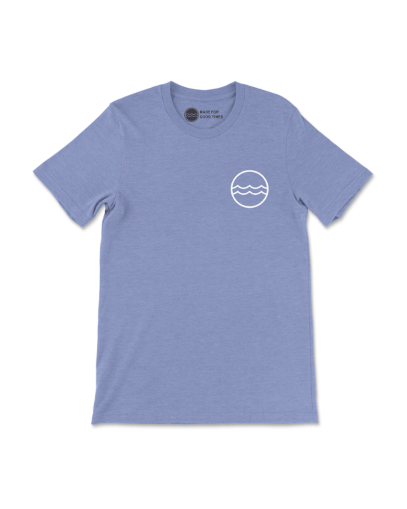 Blue Heathered Corporate Logo T-Shirt Front