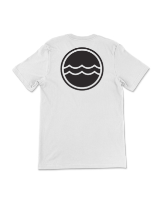 White Corporate Logo T-Shirt Back