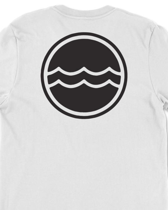 White Corporate Logo T-Shirt Back Graphic Detail