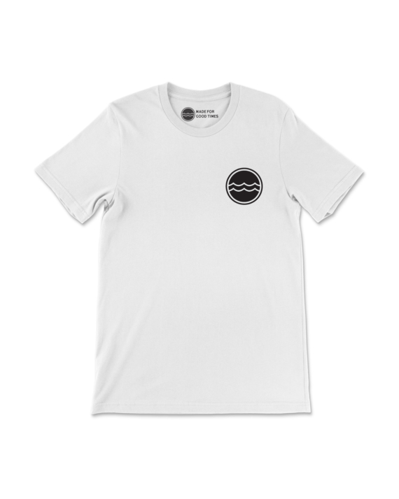 White Corporate Logo T-Shirt Front
