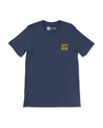 Navy Blue Circular T-Shirt Front