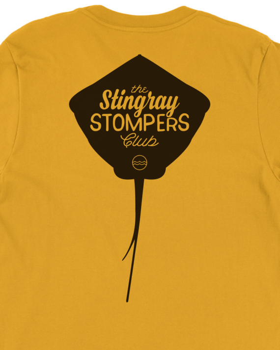 Mustard Stingray Stompers Club T-Shirt Back Graphic Detail